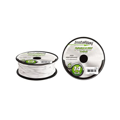 Install Bay 14 ga Primary Wire 500' Spool (white)