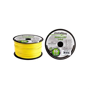 Install Bay 16 ga Primary Wire 500' Spool (yellow)