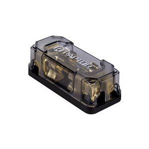 Raptor Mid Series AGU 2-Position Fused Distrib Block (gold)