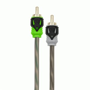 Raptor Pro Series 1M / 2F Visible Dual Twist RCA Y-Adapter