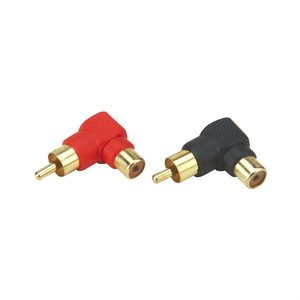 Install Bay Mini Right Angle RCA Barrel Connectors (10 pk)