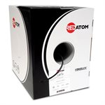Red Atom Cat 5e 350MHz Wire 1,000' Box (black)