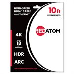 Red Atom 10' High-Speed HDMI 4K Cable with Ethernet