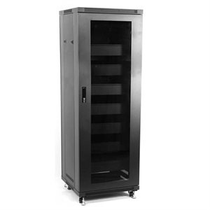 Red Atom 27U Enclosed Locking Rack with Active Cooling