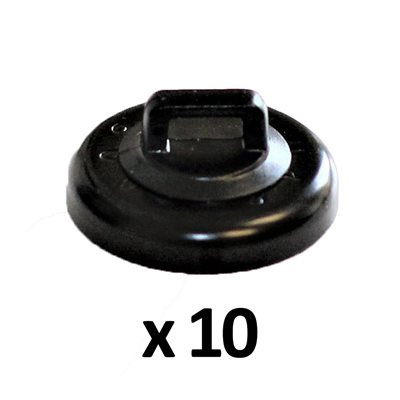 Rack-A-Tiers 10LB Magnetic Cable Tie Mount 10pk (black)