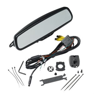 "Audiovox Replacement Rear View Mirror w / 4.3"" LCD Monitor, 2 inputs, includes Standard slip on mount,"