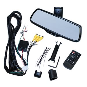 "Audiovox Full View Replacement Rear View Mirror w / 7.3"" wide screen monitor. R / L side camera inputs"