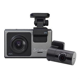 Cobra 4K Smart Dash Cam, Front  /  Rear Camera 32GB SD Card