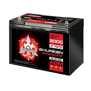 Shuriken 2,000W 100 Amp Hours Large Size AGM 12V Battery