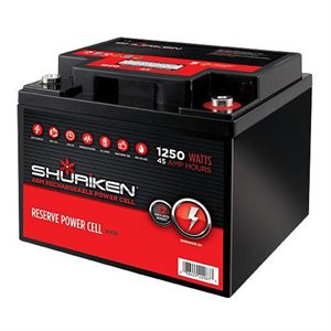 Shuriken 1,250W 45 Amp Hours Compact Size AGM 12V Battery