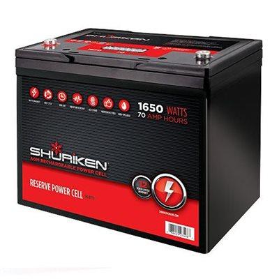 Shuriken 1,650W 70 Amp Hours Full-Size AGM 12V Battery