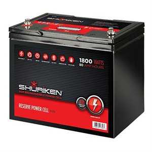 Shuriken 1,800W 80 Amp Hours Large Size AGM 12V Battery