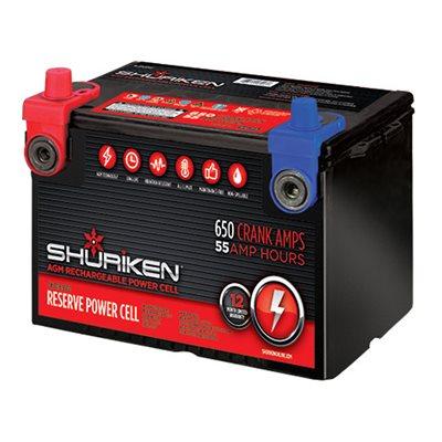 Shuriken 1,500W 55 Amp Hours 12 Volt Dual Post Battery