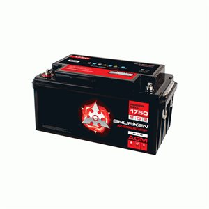 Shuriken 1,750W 75 Amp Hours Large Size AGM 12V Battery