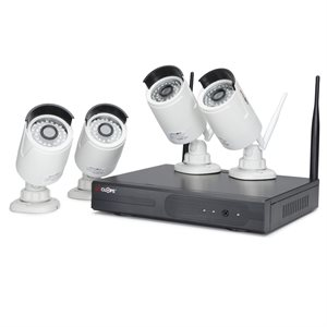 Spyclops TB NVR Kit with 4 Wireless 720p Bullet Cameras