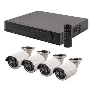 Spyclops 4 Channel PoE 1TB HD NVR Kit w / 4 Bullet Cameras