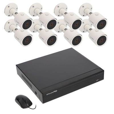 Spyclops 8 CHANNEL 4K NVR W / 8 MN BLT 1TB