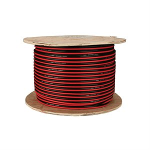 Install Bay 14 ga Speaker Wire 500' Spool (red / black paired)