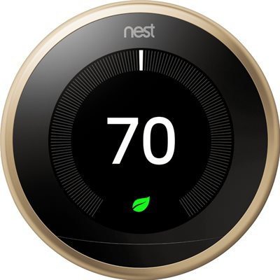 Nest Learning Thermostat 3rd Generation (Brass)