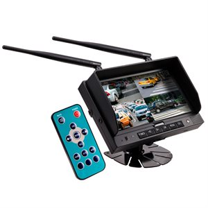 "iBeam Commercial 7"" Wireless Monitor w / Quad Output / DVR"