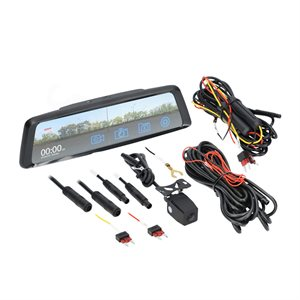 iBeam Rearview Mirror, Live Video Stream and Dual DVR