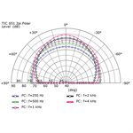 Vanco Volt In Ceiling 6.5 inch 2-way Fluted IMPP, 1 inch ALU Dome 25 / 70 / 100