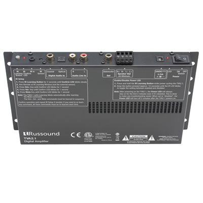 Russound 2 Channel TV Amplifier with Subwoofer Output