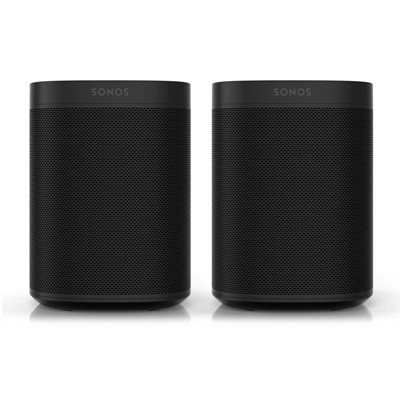 Sonos Two Room Set with Two Sonos Ones (black)