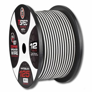 T-Spec v10 12 ga Speaker Wire 125' Spool (w / b)