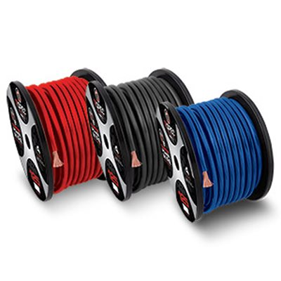 T-Spec 1-0 AWG 50' Blue OFC Power Wire, V8GT Series