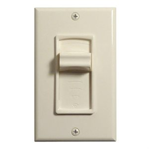 TruAudio Volume Control Decor Plate with Slide (almond)