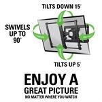 """Sanus Full-Motion+ Mount For 40"""" - 50"""" flat-panel TVs up 75 lbs."""