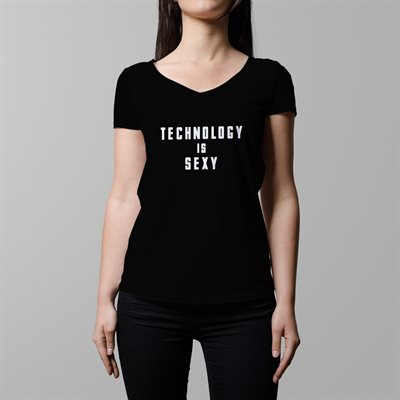 DOW Tech is Sexy, Large (FEMALE, V-Neck)