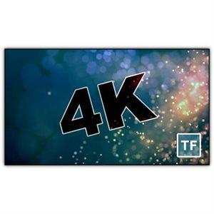"Severtson 135"" 16:9 4K Thin-Bezel Fixed Cinema White"
